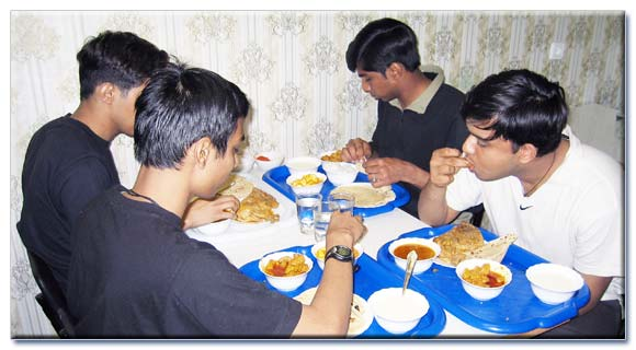 Indian mess: students are dining